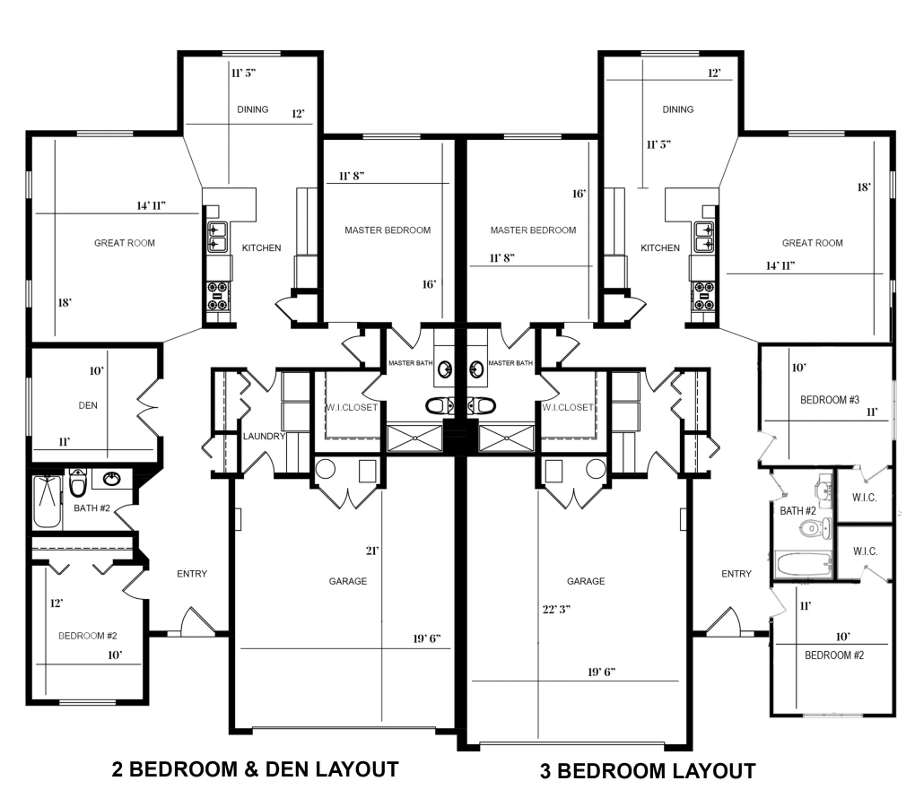 Paired Homes Floor Plan
