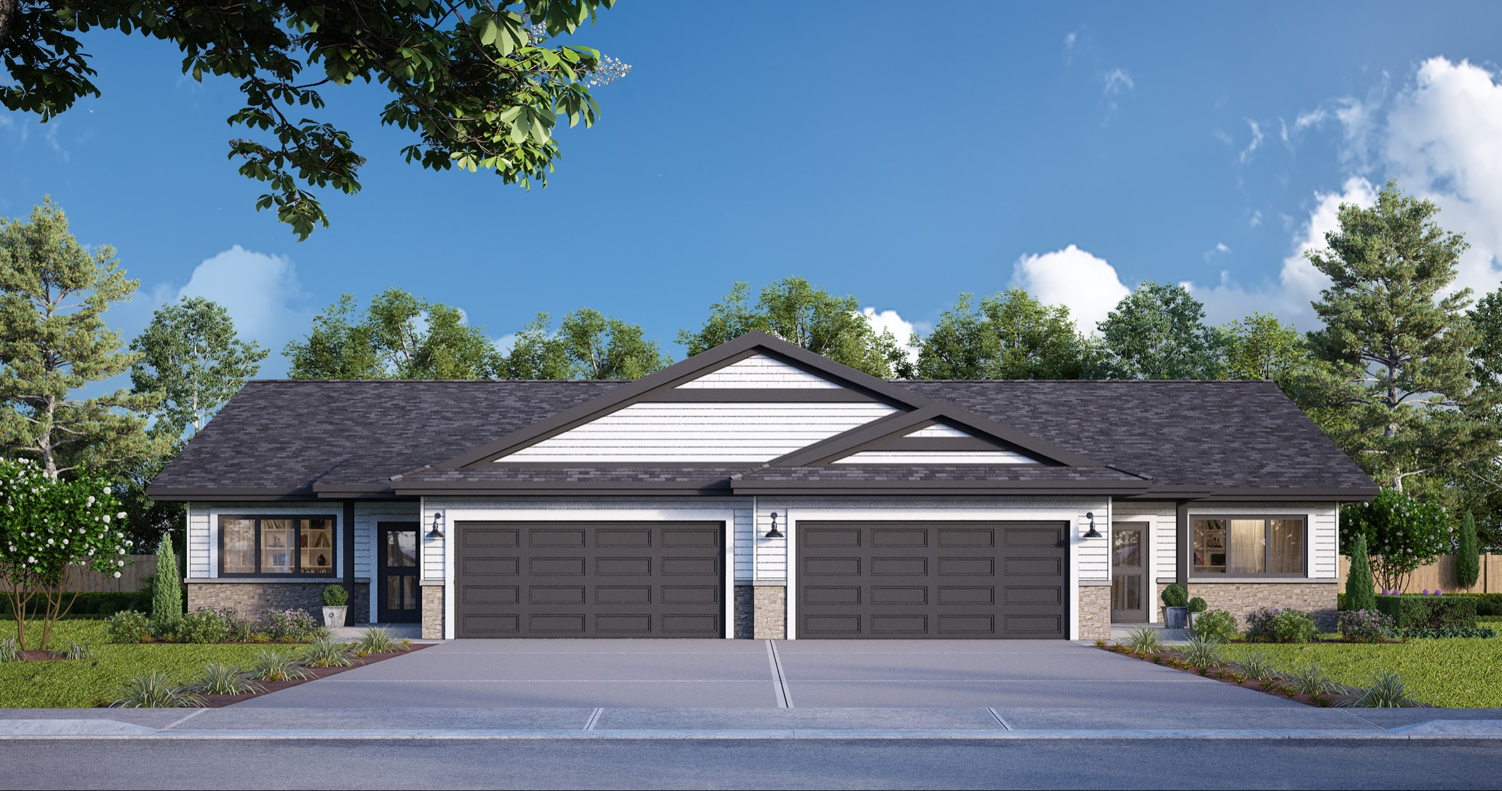 The Paired Homes at Summer Winds Cedar Lake - 2/3 BR 2BA - 1550+ sq/ft - Basement option available - Starting at $275,000